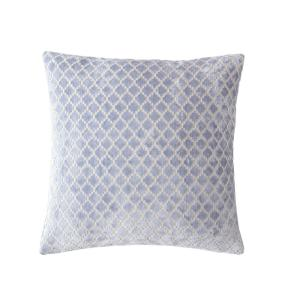 MHF Home 18 in. Melinda Blue Diamond Throw Pillow Cover