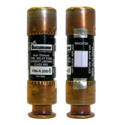 20-Amp 250-Volt EasyID Fusetron Dual Element Time-Delay Current Limiting Fuse
