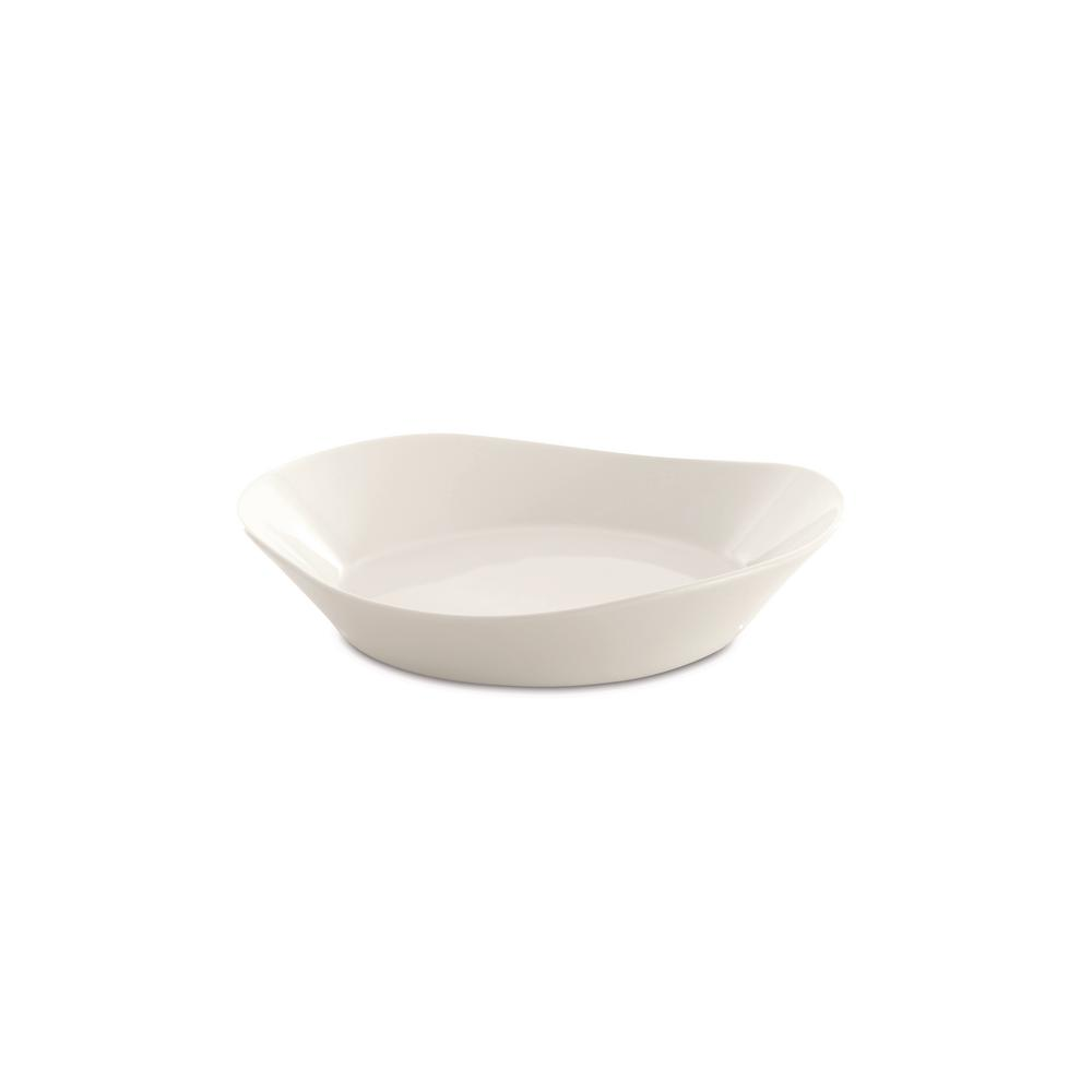 Eclipse 8 in. White Porcelain Pasta Plate (Set of 4)