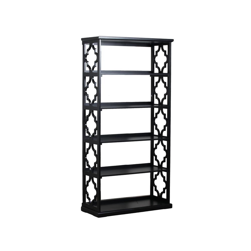 Carson Black Bookcase