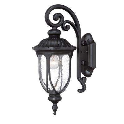 Laurens Collection 1-Light Matte Black Outdoor Wall-Mount Light Fixture