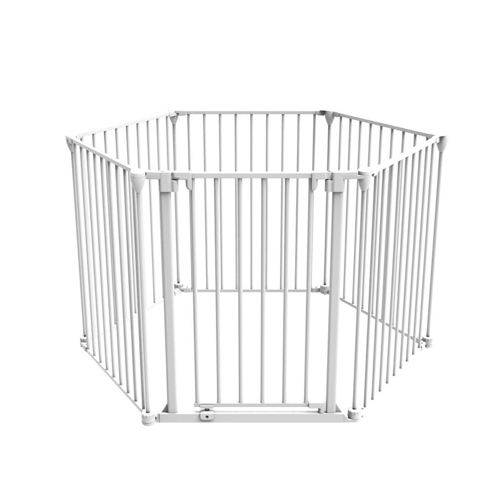 Perma 30 in. H Super Wide 3-in-1 Playpen Barrier, 6 Panel...