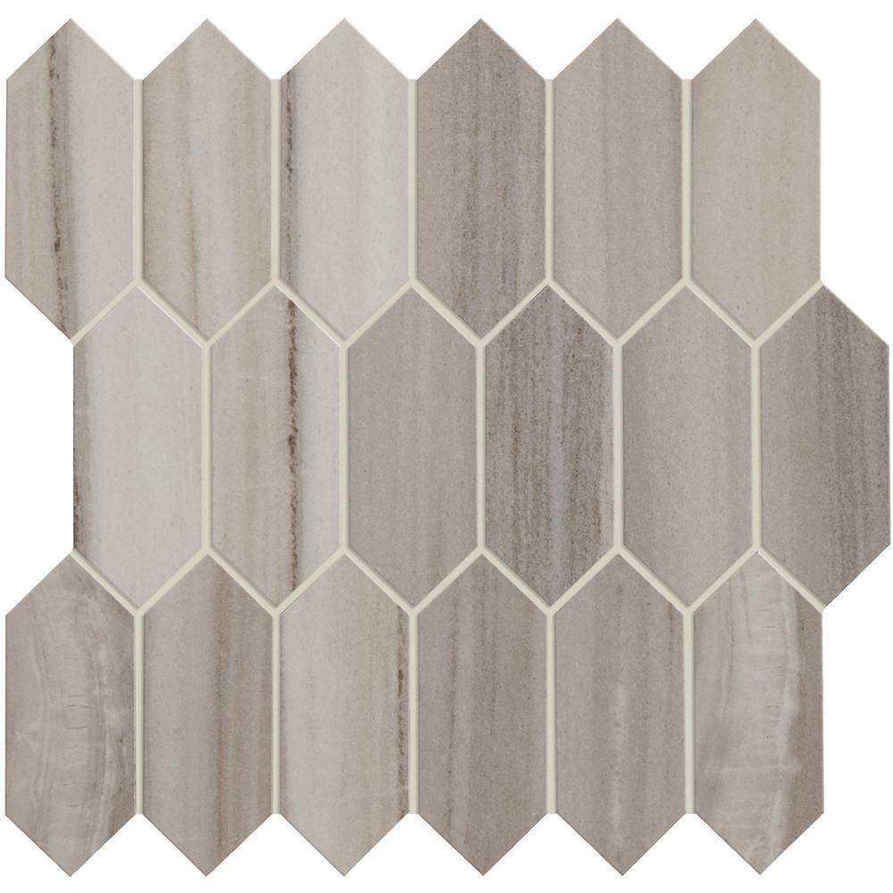 Gray Honeycomb Tile Flooring The Home Depot