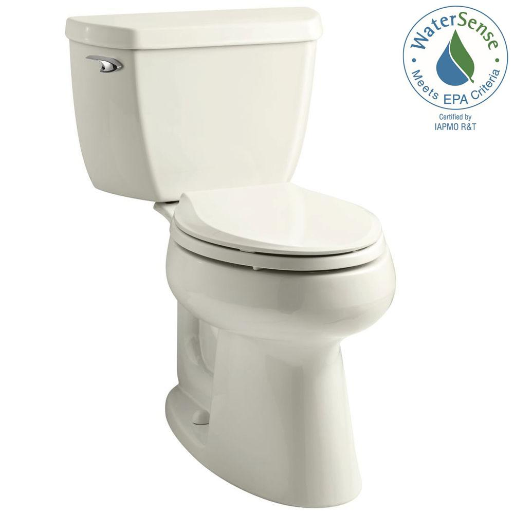 KOHLER Highline 2-piece 1.28 GPF Single Flush Elongated Toilet in Biscuit