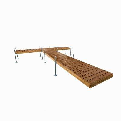 24 ft. L T-Style Cedar Complete Dock Package