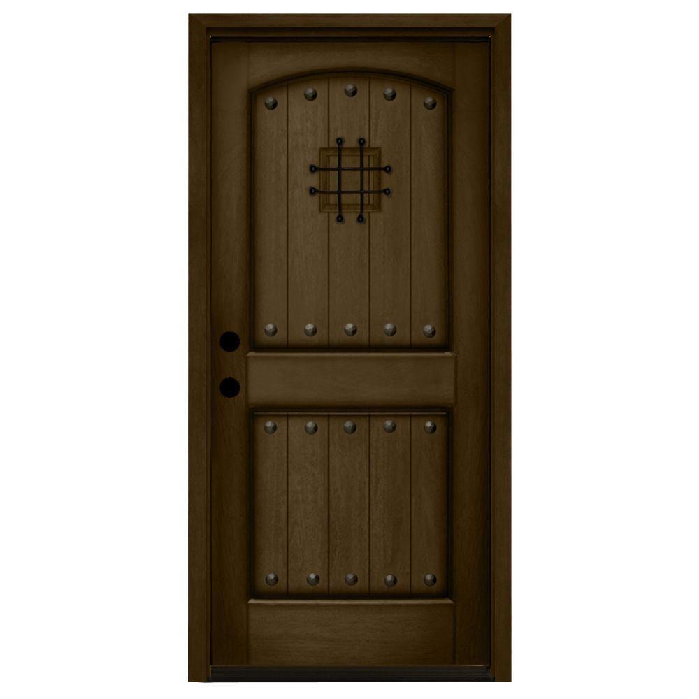 36 x 80 - Right-Hand/Inswing - Mediterranean - Wood Doors - Front ...