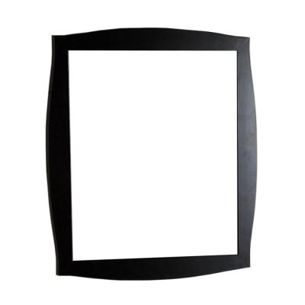 Burlingame 36 in. x 32 in. Single Framed Wall Mirror in Dark Espresso