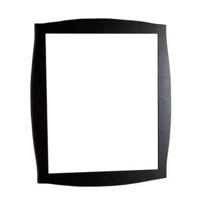 Burlingame 35.5 in. x 31.5 in. Single Framed Wall Mirror in Dark Espresso