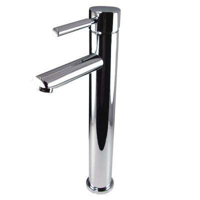 Tolerus Single Hole 1-Handle Vessel Bathroom Faucet in Chrome