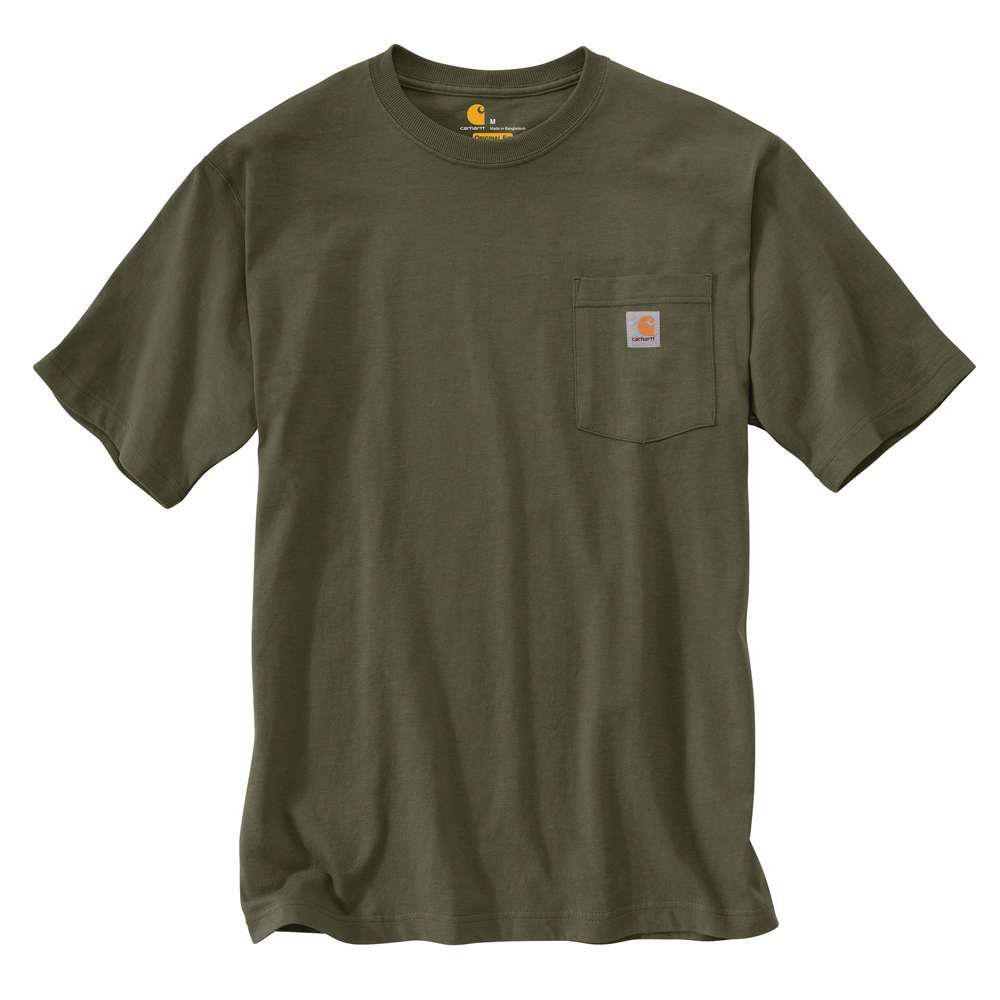 8d3acc98a7e Carhartt Men s Tall Large Army Green Cotton Short-Sleeve T-Shirt-K87 ...