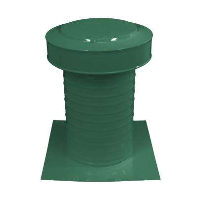 8 in. Dia Keepa Vent an Aluminum Static Roof Vent for Flat Roofs in Green