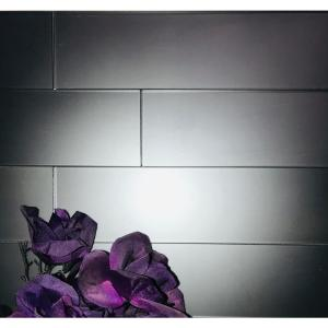 Forever Royal Gray Straight Edge Subway 3 in. x 12 in Matte Wall Tile Sample