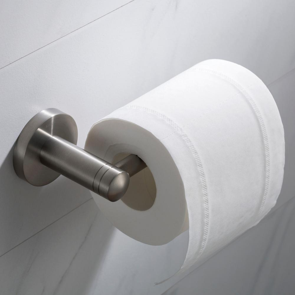 Kraus elie bathroom toilet paper holder in brushed nickel