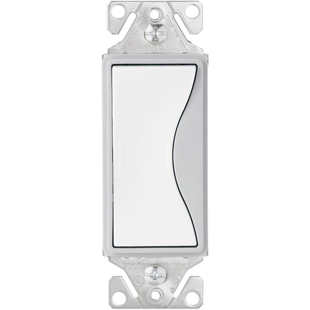 Aspire 15 Amp Side Wire/Push Wire 3-Way Switch, White Satin