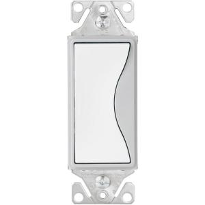 eaton aspire 15 amp side wire/push wire 3-way switch, white satin