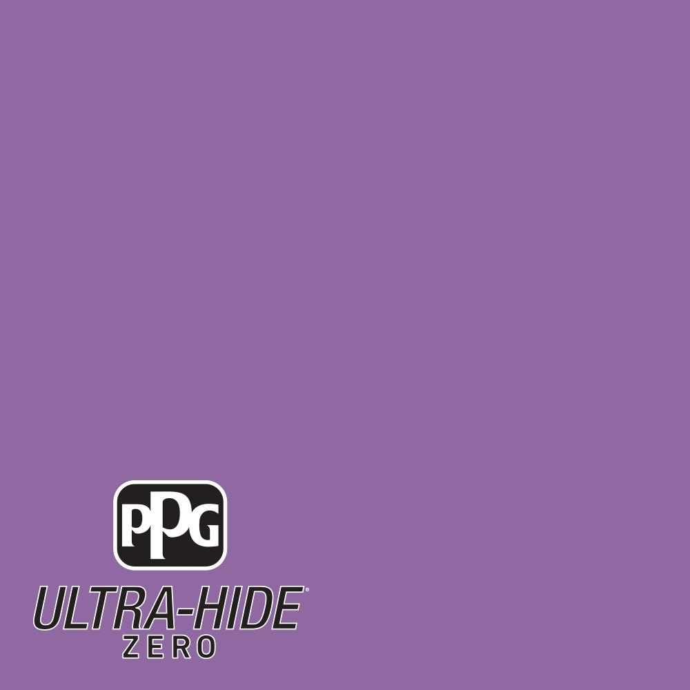 PPG 1 gal. #HDPV54D Ultra-Hide Zero Up Tempo Violet Flat Interior Paint