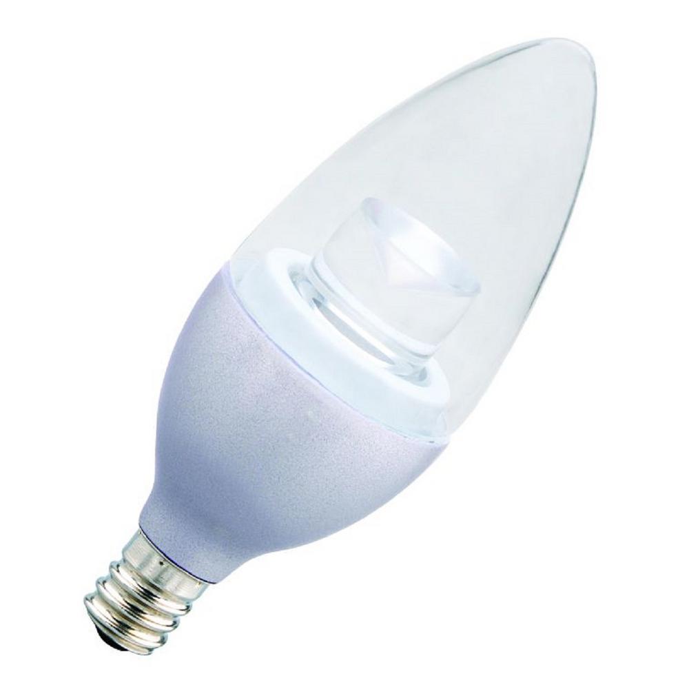 25-Watt Equivalent Soft White B11 LED Dimmable Light Bulb