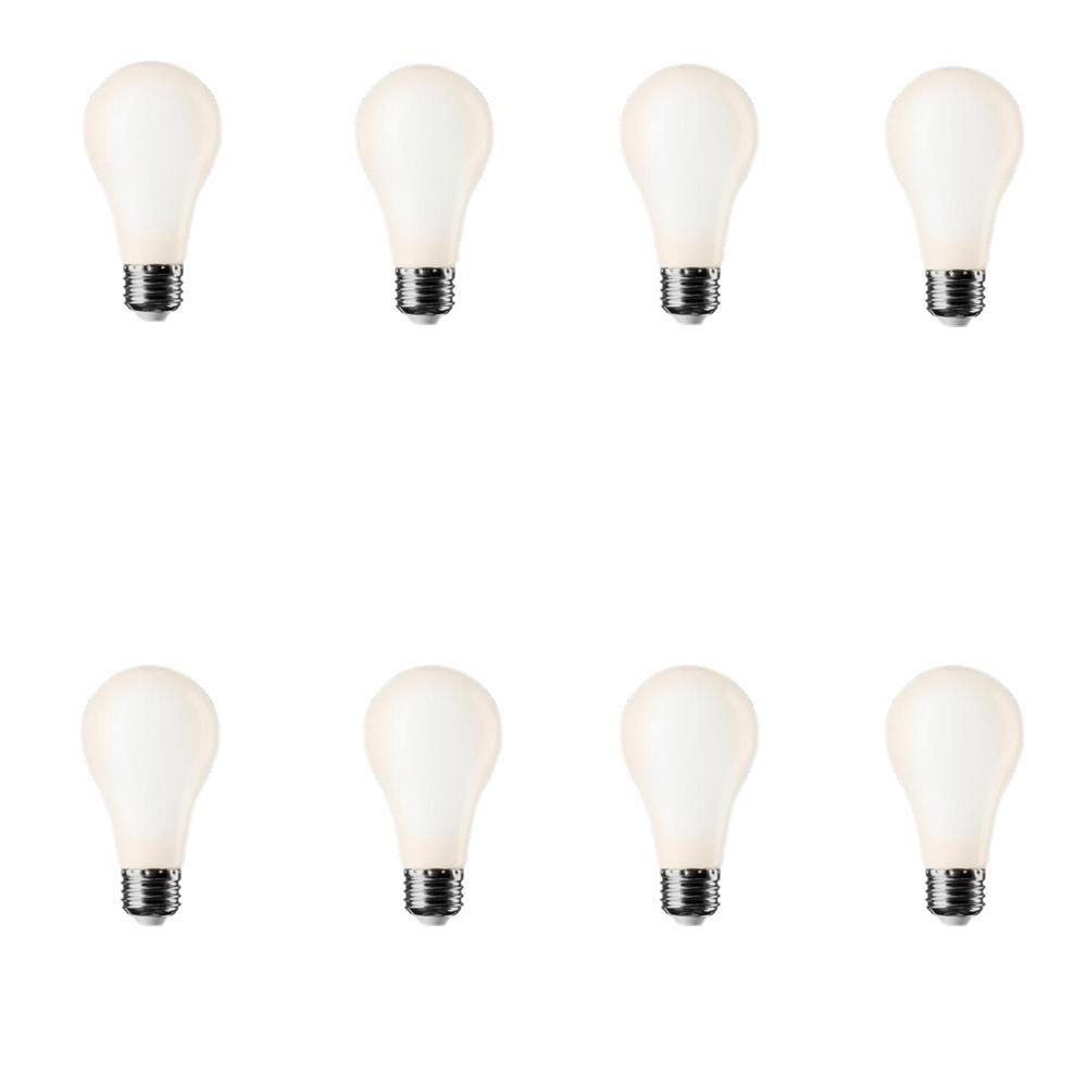 60W Equivalent Soft White A19 LED Light Bulb (8-Pack)