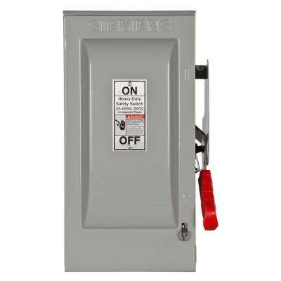 Heavy Duty 30 Amp 240-Volt 2-Pole Indoor Fusible Safety Switch with Neutral