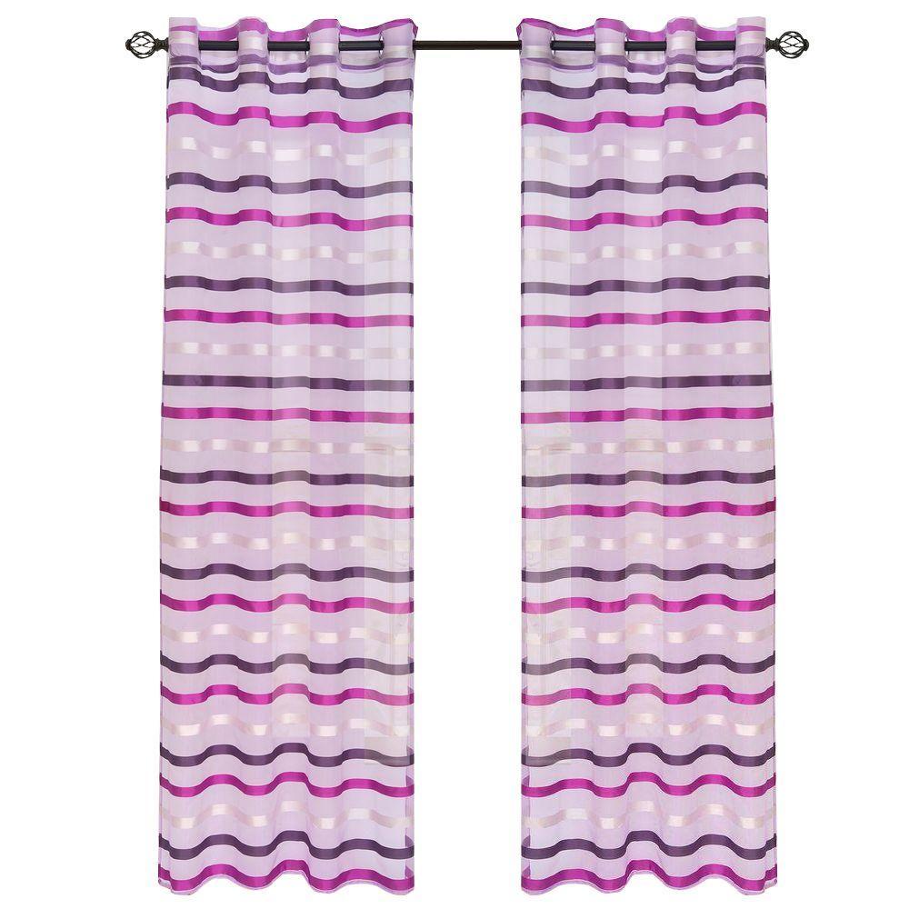 Violet Sonya Grommet Curtain Panel, 108 in. Length