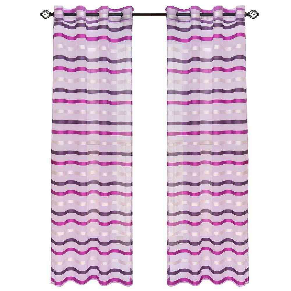 Lavish Home Violet Sonya Grommet Curtain Panel, 108 in. Length - Sale: $10.98 USD (40% off)