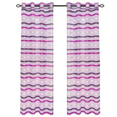 Violet Sonya Grommet Curtain Panel, 108 in. Length