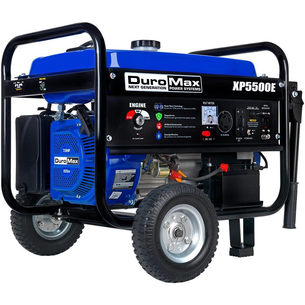 Duromax 4,500-Watt 7.5 HP Portable Electric Start Gasoline Generator with Wheel Kit