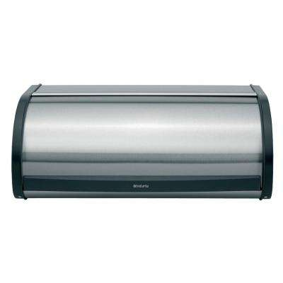Brabantia Roll Top Bread Box, Matt Steel Fingerprint Proof