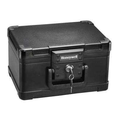 0.15 cu. ft. Molded Fire Resistant Portable Chest with Carry Handle and Key Lock