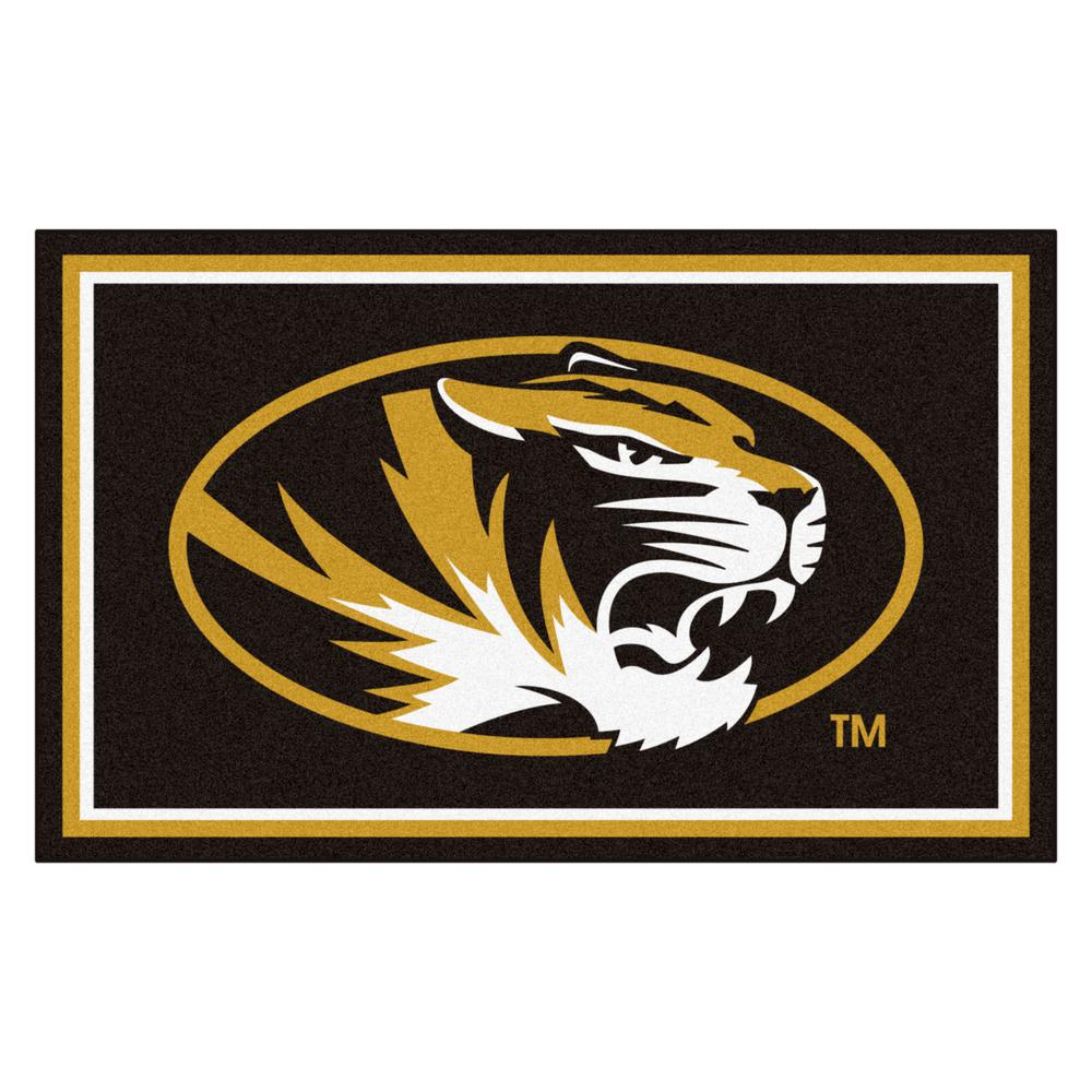 FANMATS University of Missouri 4 ft. x 6 ft. Area Rug