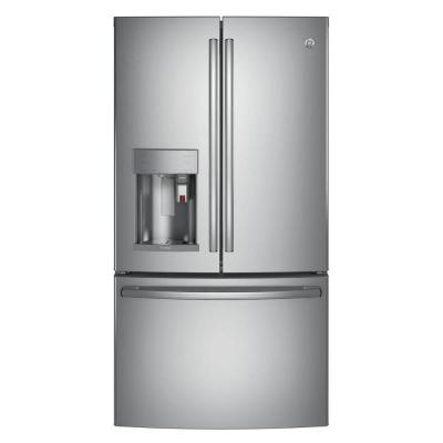 Profile 27.8 cu. ft. Smart French Door Refrigerator with Keurig K-Cup in Stainless Steel, ENERGY STAR