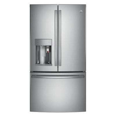 Profile 36 in. W 27.8 cu. ft. Smart French Door Refrigerator with Keurig K-Cup and WiFi in Stainless Steel, ENERGY STAR