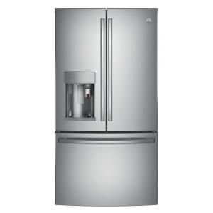 GE Profile 36 inch W 27.8 cu. ft. Smart French Door Refrigerator with Keurig K-Cup and WiFi in Stainless Steel, ENERGY STAR by GE