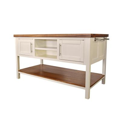 Lexington White Kitchen Island