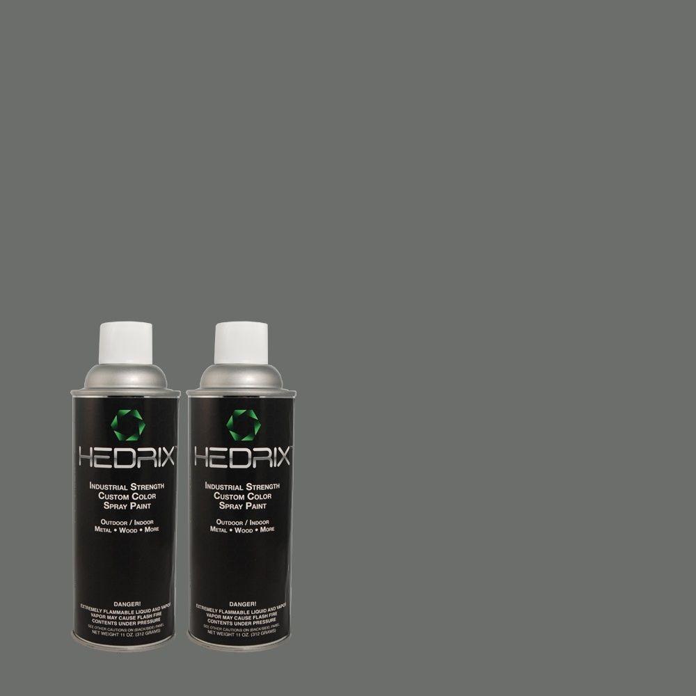 Hedrix 11 oz. Match of MQ5-25 Rush Hour Flat Custom Spray Paint (8-Pack)