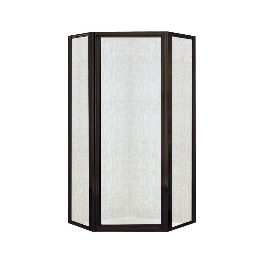 STERLING Intrigue 36-1/8 in. x 72 in. Neo-angle Shower Door in Deep Bronze