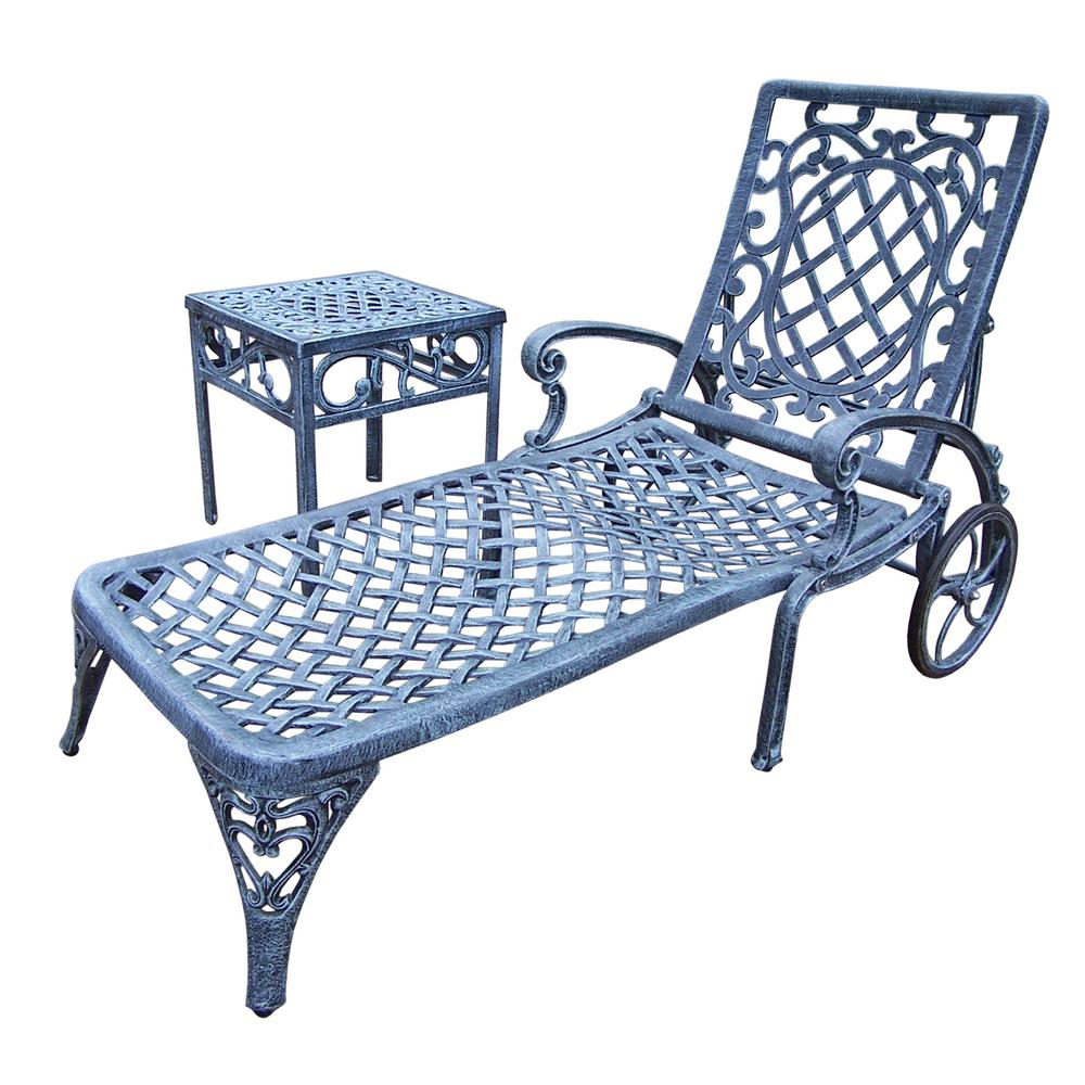 Hampton Bay Niles Park Sling Patio Chaise Lounge