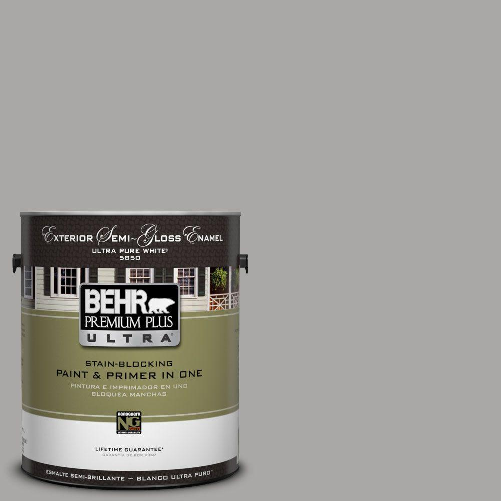 Behr Exterior Paint Home Depot behr premium plus ultra 1gal. ul2607 cathedral gray semigloss