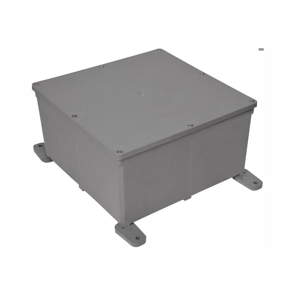 Carlon 12 in. x 12 in. x 6 in. PVC Junction Box (Case of 2)