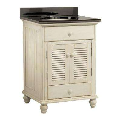 Cottage 25 in. W x 22 in. D Vanity with Colorpoint Vanity Top in Black