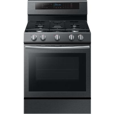 Samsung 30 In 5 8 Cu Ft Gas Range With True Convection Oven In