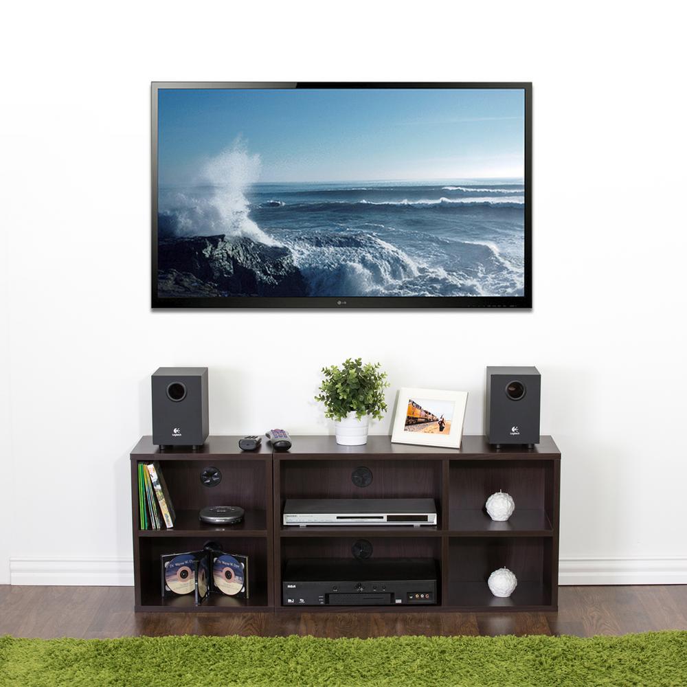 Indo Audio Video Storage Shelf in Espresso