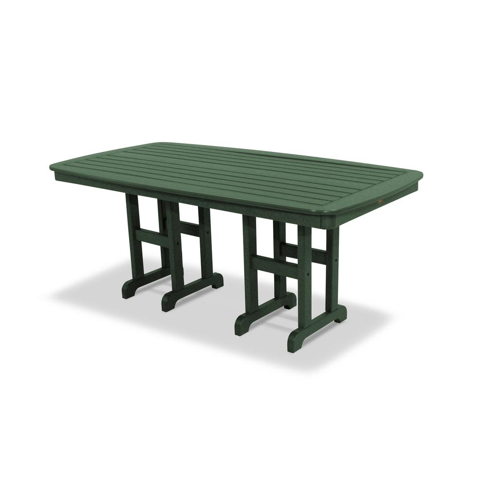 Trex Outdoor Furniture Yacht Club In X In Rainforest Canopy - 72 x 72 square dining table