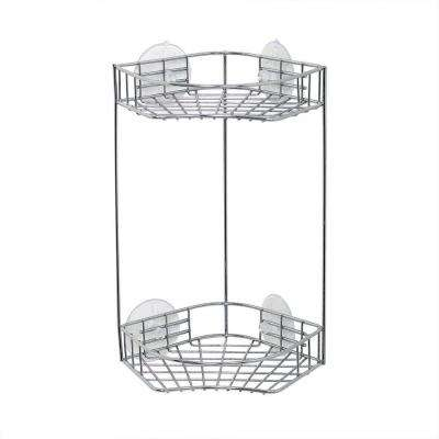 Chrome 2 Shelf Corner Shower Caddy in Chrome