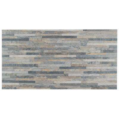 Muro Ardesia Gris 12-1/2 in. x 24-1/2 in. Porcelain Wall Tile (10.96 sq. ft. / case)