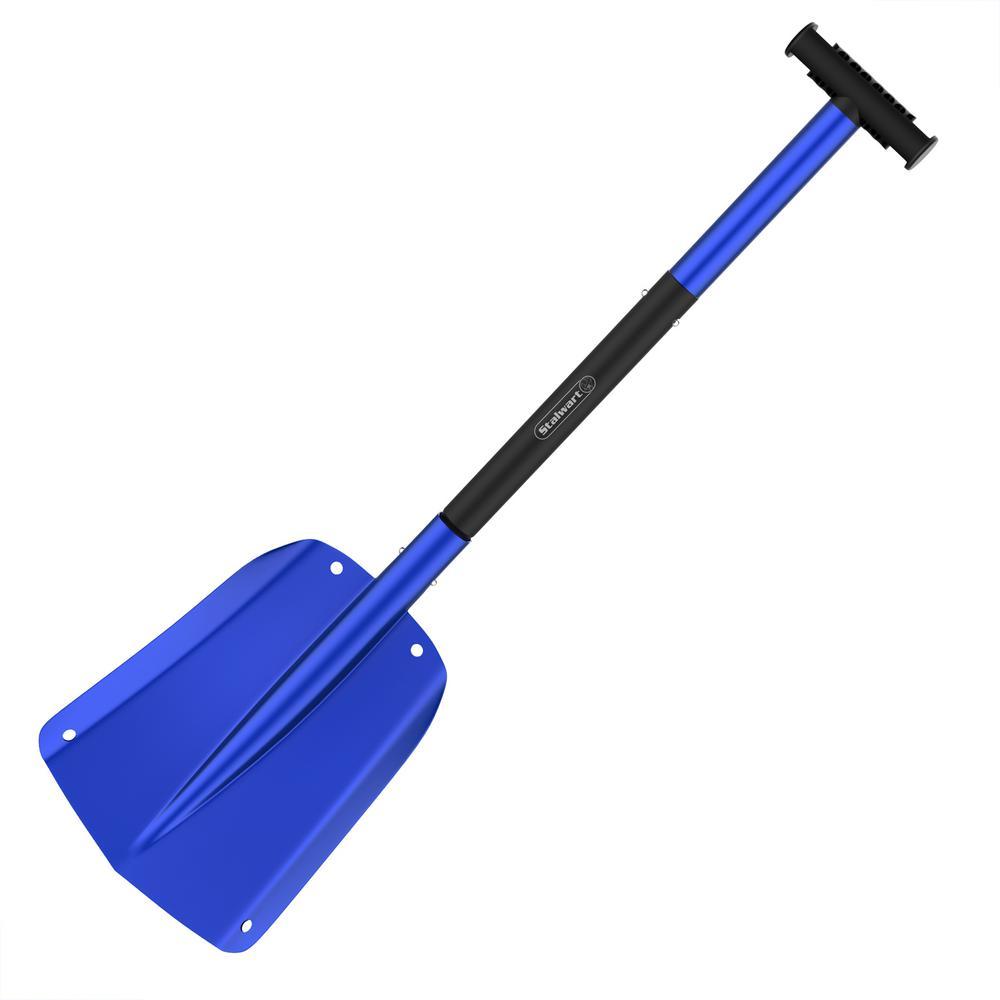 Telescoping Snow Shovel in Blue