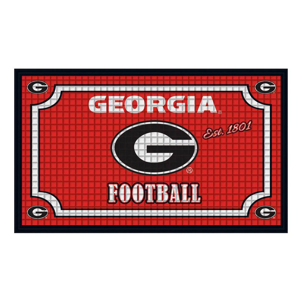 Captivating Evergreen University Of Georgia 18 In. X 30 In. Embossed Welcome Mat