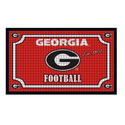 University of Georgia 18 in. x 30 in. Embossed Welcome Mat