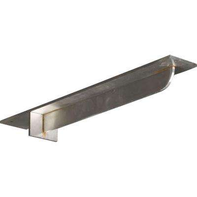 20 in. x 3 in. x 2 in. Stainless Steel Unfinished Metal Heaton Bracket