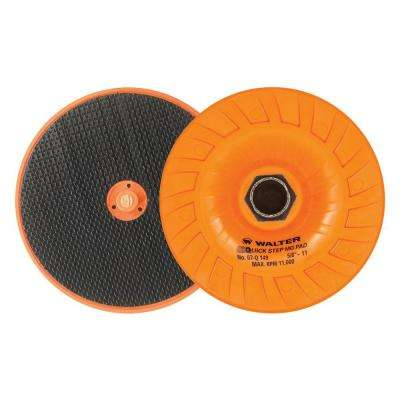 Quick-Step 4.5 in. x 5/8 in. to 11 in. Mega-Grip Velcro Backing Pad with Centering Pin